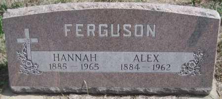 FERGUSON, HANNAH - Saline County, Nebraska   HANNAH FERGUSON - Nebraska Gravestone Photos