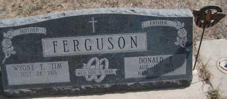 "FERGUSON, WYONE E. ""TIM"" - Saline County, Nebraska | WYONE E. ""TIM"" FERGUSON - Nebraska Gravestone Photos"