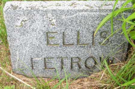 FETROW, ELLIS - Saline County, Nebraska | ELLIS FETROW - Nebraska Gravestone Photos