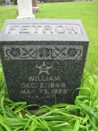 FETROW, WILLIAM - Saline County, Nebraska | WILLIAM FETROW - Nebraska Gravestone Photos