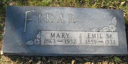 FIKAR, MARY - Saline County, Nebraska | MARY FIKAR - Nebraska Gravestone Photos