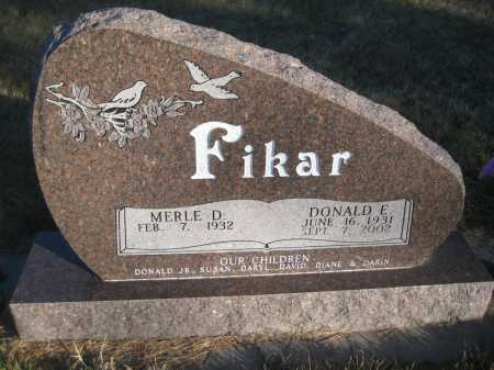 FIKAR, MERLE D. - Saline County, Nebraska | MERLE D. FIKAR - Nebraska Gravestone Photos