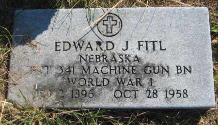 FITL, EDWARD J. - Saline County, Nebraska | EDWARD J. FITL - Nebraska Gravestone Photos