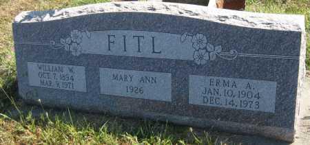 FITL, MARY ANN - Saline County, Nebraska   MARY ANN FITL - Nebraska Gravestone Photos