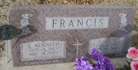 FRANCIS, S. KENNETH - Saline County, Nebraska   S. KENNETH FRANCIS - Nebraska Gravestone Photos