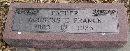 FRANCK, AGUSTUS H. - Saline County, Nebraska | AGUSTUS H. FRANCK - Nebraska Gravestone Photos