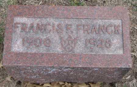 FRANCK, FRANCIS F. - Saline County, Nebraska   FRANCIS F. FRANCK - Nebraska Gravestone Photos