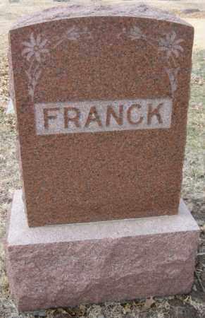 FRANCK, FAMILY STONE - Saline County, Nebraska | FAMILY STONE FRANCK - Nebraska Gravestone Photos