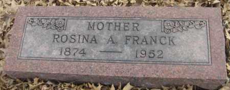 FRANCK, ROSINA A. - Saline County, Nebraska   ROSINA A. FRANCK - Nebraska Gravestone Photos