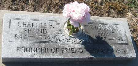 FRIEND, WILLMINA E. - Saline County, Nebraska | WILLMINA E. FRIEND - Nebraska Gravestone Photos