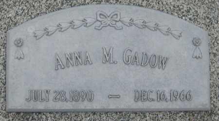 GADOW, ANNA M. - Saline County, Nebraska | ANNA M. GADOW - Nebraska Gravestone Photos