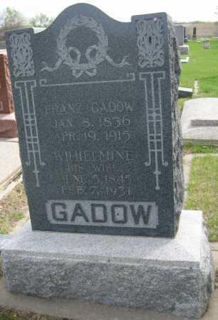 GADOW, FRANZ - Saline County, Nebraska | FRANZ GADOW - Nebraska Gravestone Photos