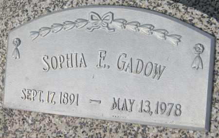 GADOW, SOPHIA E. - Saline County, Nebraska   SOPHIA E. GADOW - Nebraska Gravestone Photos