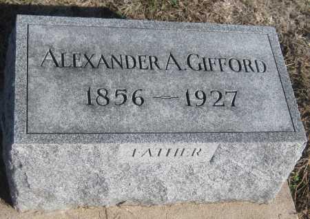 GIFFORD, ALEXANDER A. - Saline County, Nebraska | ALEXANDER A. GIFFORD - Nebraska Gravestone Photos