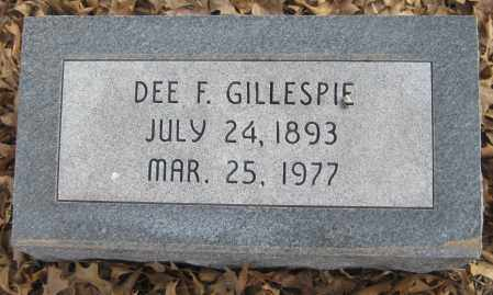 GILLESPIE, DEE F. - Saline County, Nebraska   DEE F. GILLESPIE - Nebraska Gravestone Photos