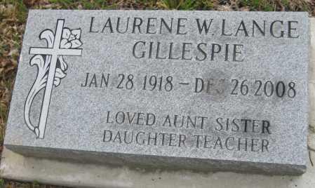 GILLESPIE, LAURENE W. - Saline County, Nebraska | LAURENE W. GILLESPIE - Nebraska Gravestone Photos