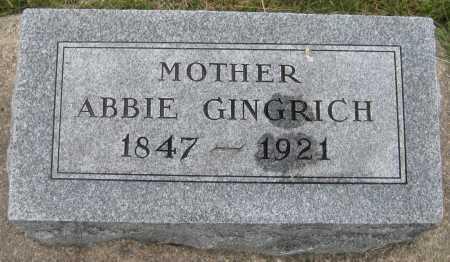 GINGRICH, ABBIE - Saline County, Nebraska | ABBIE GINGRICH - Nebraska Gravestone Photos