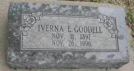 GOODELL, IVERNA E. - Saline County, Nebraska | IVERNA E. GOODELL - Nebraska Gravestone Photos