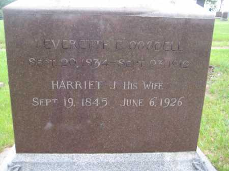 GOODELL, HARRIET J. - Saline County, Nebraska | HARRIET J. GOODELL - Nebraska Gravestone Photos