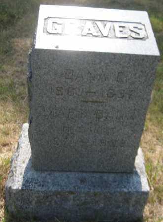 GRAVES, MARY - Saline County, Nebraska | MARY GRAVES - Nebraska Gravestone Photos