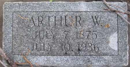 GREER, ARTHUR W. - Saline County, Nebraska   ARTHUR W. GREER - Nebraska Gravestone Photos