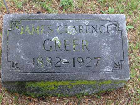 GREER, JAMES CLARENCE - Saline County, Nebraska   JAMES CLARENCE GREER - Nebraska Gravestone Photos