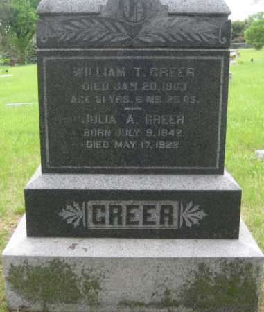 GREER, JULIA A. - Saline County, Nebraska | JULIA A. GREER - Nebraska Gravestone Photos