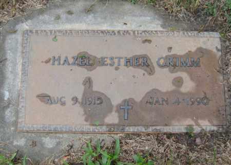 GRIMM, HAZEL ESTHER - Saline County, Nebraska | HAZEL ESTHER GRIMM - Nebraska Gravestone Photos