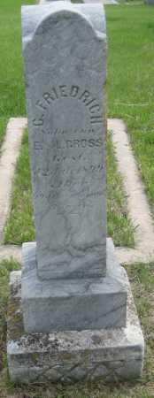 GROSS, C. FRIEDRICH - Saline County, Nebraska   C. FRIEDRICH GROSS - Nebraska Gravestone Photos
