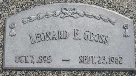 GROSS, LEONARD E. - Saline County, Nebraska | LEONARD E. GROSS - Nebraska Gravestone Photos