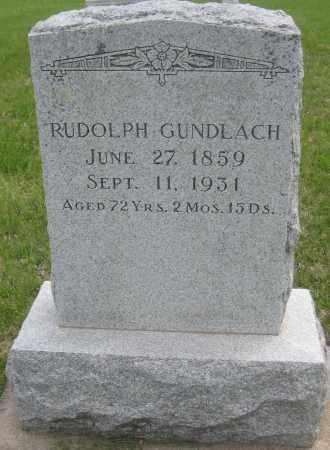 GUNDLACH, RUDOLPH - Saline County, Nebraska | RUDOLPH GUNDLACH - Nebraska Gravestone Photos