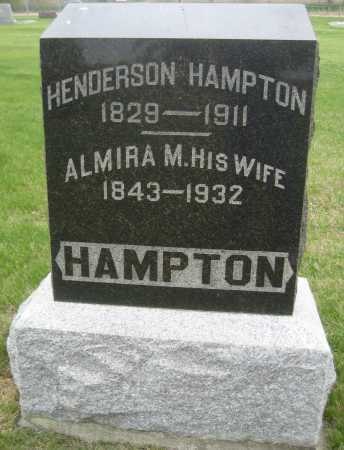HAMPTON, HENDERSON - Saline County, Nebraska | HENDERSON HAMPTON - Nebraska Gravestone Photos