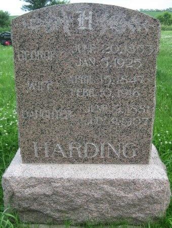 HARDING, GEORGE - Saline County, Nebraska | GEORGE HARDING - Nebraska Gravestone Photos