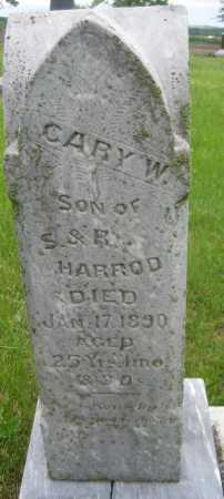 HARROD, CARY W. - Saline County, Nebraska | CARY W. HARROD - Nebraska Gravestone Photos