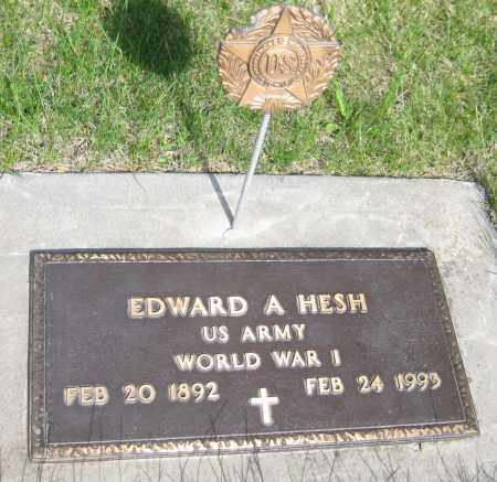 HESH, EDWARD A. - Saline County, Nebraska | EDWARD A. HESH - Nebraska Gravestone Photos