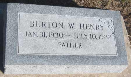 HENRY, BURTON W. - Saline County, Nebraska   BURTON W. HENRY - Nebraska Gravestone Photos