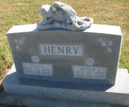 HENRY, ARTHUR J. - Saline County, Nebraska | ARTHUR J. HENRY - Nebraska Gravestone Photos