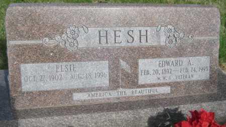 HESH, ELSIE - Saline County, Nebraska   ELSIE HESH - Nebraska Gravestone Photos