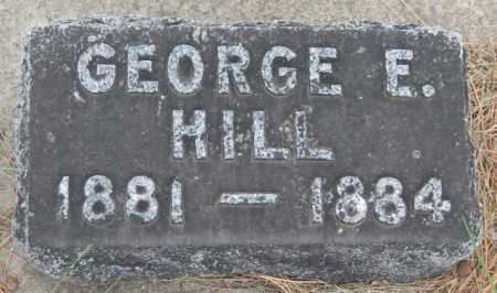 HILL, GEORGE E. - Saline County, Nebraska | GEORGE E. HILL - Nebraska Gravestone Photos