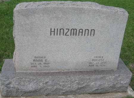 HINZMANN, AUGUST - Saline County, Nebraska | AUGUST HINZMANN - Nebraska Gravestone Photos