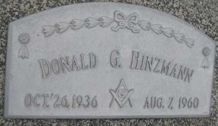 HINZMANN, DONALD G. - Saline County, Nebraska | DONALD G. HINZMANN - Nebraska Gravestone Photos