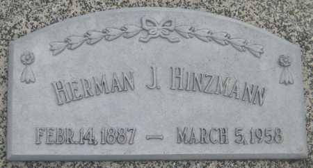 HINZMANN, HERMAN J. - Saline County, Nebraska | HERMAN J. HINZMANN - Nebraska Gravestone Photos