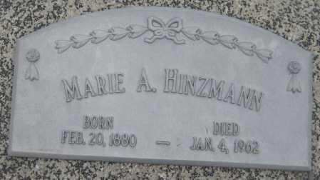 HINZMANN, MARIE A. - Saline County, Nebraska | MARIE A. HINZMANN - Nebraska Gravestone Photos