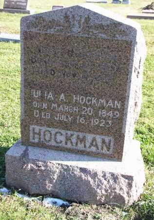 HOCKMAN, JULIA A. - Saline County, Nebraska | JULIA A. HOCKMAN - Nebraska Gravestone Photos