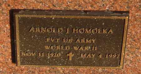 HOMOLKA, ARNOLD JOE - Saline County, Nebraska | ARNOLD JOE HOMOLKA - Nebraska Gravestone Photos