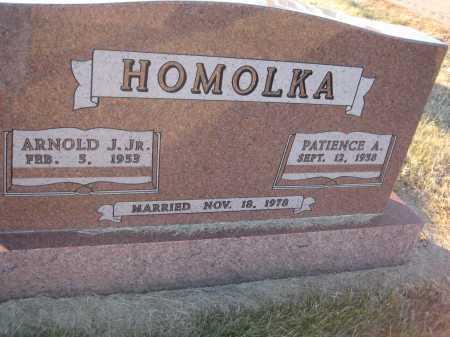 HOMOLKA, ARNOLD JOE JR. - Saline County, Nebraska | ARNOLD JOE JR. HOMOLKA - Nebraska Gravestone Photos