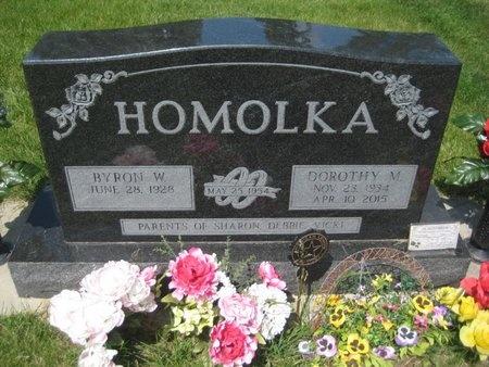 HOMOLKA, BYRON WILLIAM - Saline County, Nebraska | BYRON WILLIAM HOMOLKA - Nebraska Gravestone Photos