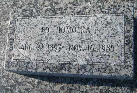 HOMOLKA, EDWARD - Saline County, Nebraska | EDWARD HOMOLKA - Nebraska Gravestone Photos
