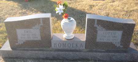 HOMOLKA, EMIL - Saline County, Nebraska | EMIL HOMOLKA - Nebraska Gravestone Photos