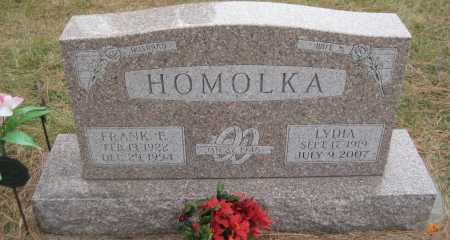 HOMOLKA, FRANK E. - Saline County, Nebraska | FRANK E. HOMOLKA - Nebraska Gravestone Photos
